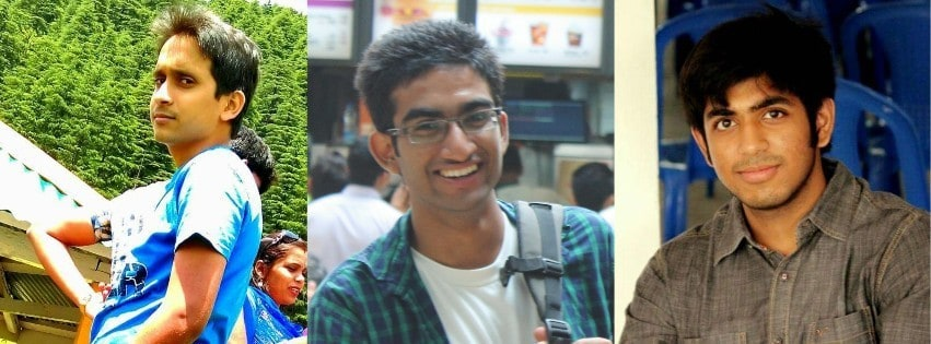 "Subham, Prateek and Siddhant, the founders of ""Green Strips."" Photo: Siddhant Kethan"