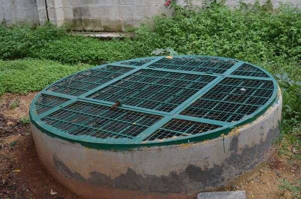 A recharge well in the Rainbow Drive community. Pic: Pragya Singh/Citizen Matters Bangalore